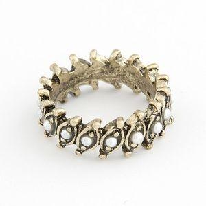 Bronze Crown Gems Ring